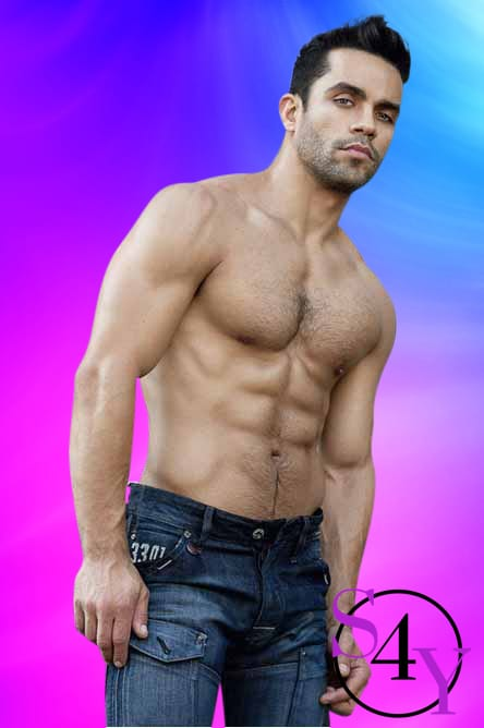 Six pack male in jeans